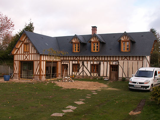 Renovation longere normande rnovation de maisons et for Agrandissement longere